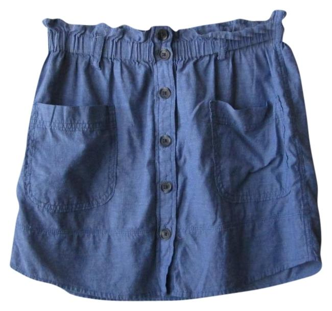 Preload https://item4.tradesy.com/images/aerie-blue-chambray-miniskirt-size-4-s-27-330203-0-0.jpg?width=400&height=650