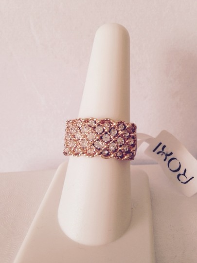 Roxi Roxi Rose Gold Plated Austrian Ring, Size 8