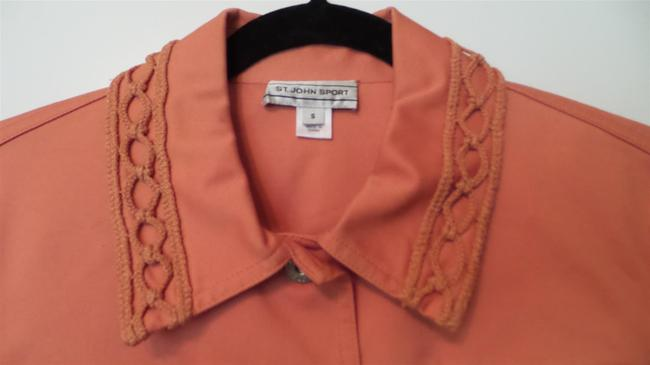 St. John Sweater Panels Branded Hardware Like New Orange Jacket