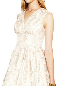 Rachel Zoe Metallic Lined Modern Cotton Pleaded Dress