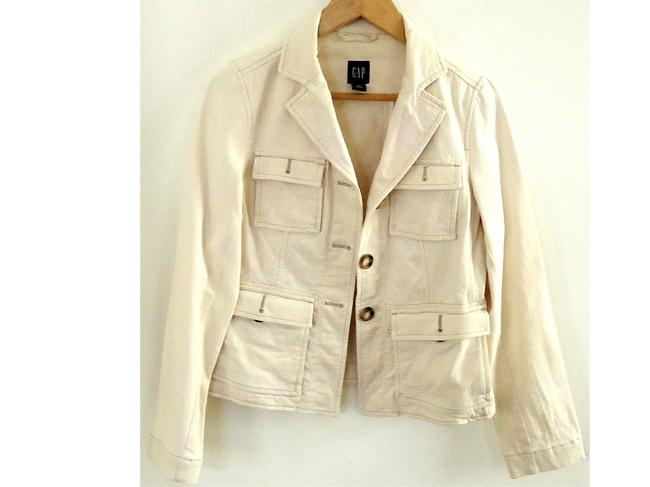 Gap cream Womens Jean Jacket