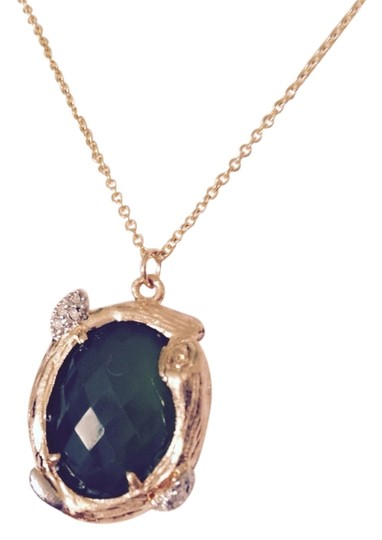 Jamison Faceted Green Onyx In Branch Design Necklace
