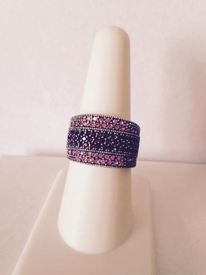 Other Embellished by Leecia Pink Sapphires & Garnet Band Ring, Size 7 Image 1