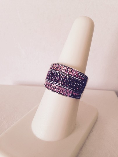 Other Embellished by Leecia Pink Sapphires & Garnet Band Ring, Size 7 Image 2
