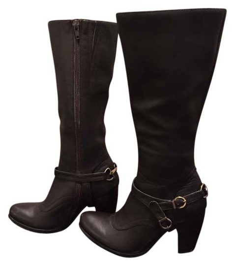 Fitzwell Tall Brown Leather Boots