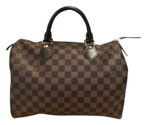 Louis Vuitton Speedy Ebene Damier Satchel