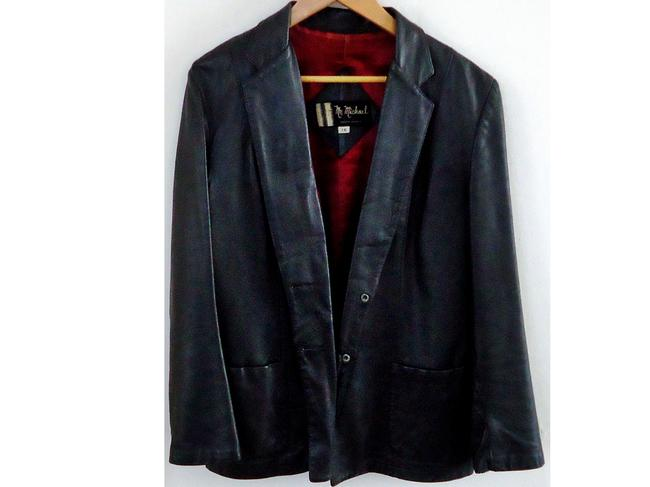 Michael Antonio Classic black Leather Jacket