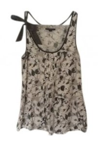 American Eagle Outfitters Top Gray and white floral print