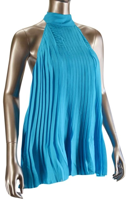 Preload https://item2.tradesy.com/images/alice-olivia-turquoise-and-silk-tie-neck-pleat-night-out-top-size-8-m-330431-0-0.jpg?width=400&height=650