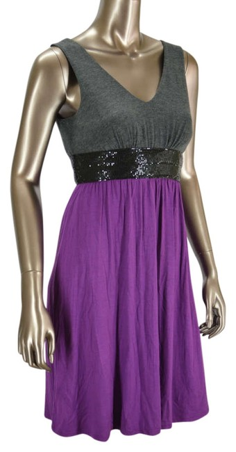 Preload https://item3.tradesy.com/images/ella-moss-purplegray-anthropologie-sequin-sleeveless-purplegray-knee-length-short-casual-dress-size--330472-0-0.jpg?width=400&height=650