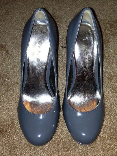Nine West Man Made Leather Synthetic Sexy gray Pumps