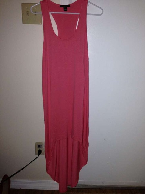 coral Maxi Dress by Forever 21 High-low Racerback Racerback