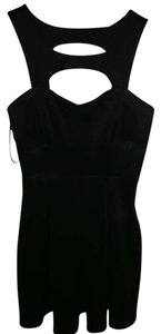 Forever 21 short dress black Squared Cutout Bustier on Tradesy