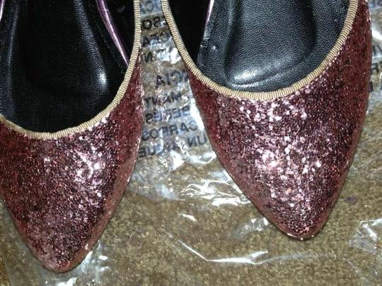 Forever 21 Ballet Glittered Glitter Sexy Pointed Doll pink Flats