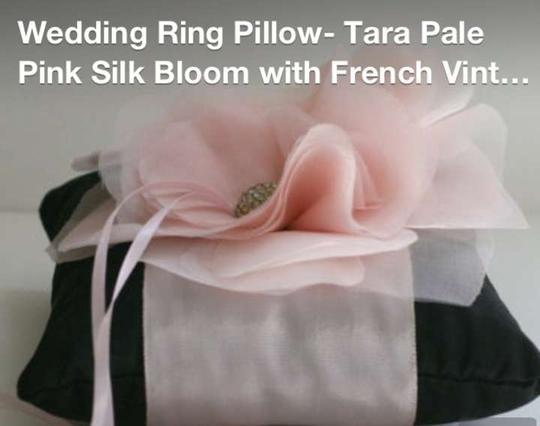 Preload https://item2.tradesy.com/images/black-with-light-pink-ribbon-and-silk-ring-bearer-pillow-330751-0-0.jpg?width=440&height=440