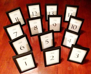 Picture Frame Table Numbers 1-14