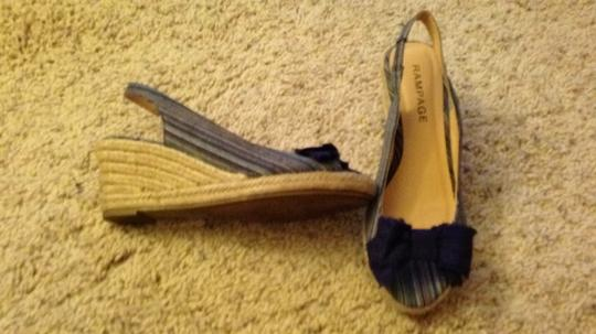 Rampage blue and tan Wedges