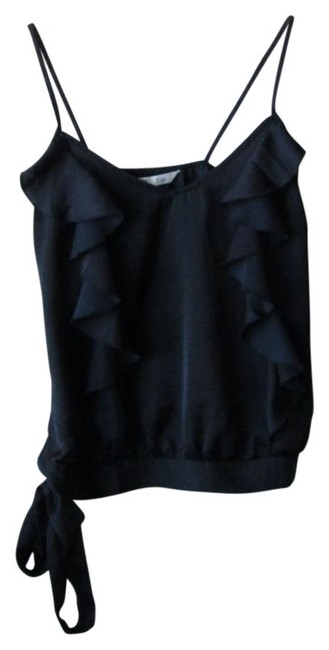 Preload https://img-static.tradesy.com/item/33098/old-navy-black-ruffle-tie-satin-tank-topcami-size-2-xs-0-0-650-650.jpg