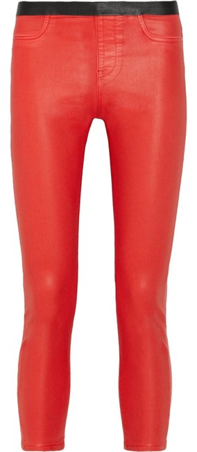 Item - Red Coated Jeggings Size 28 (4, S)