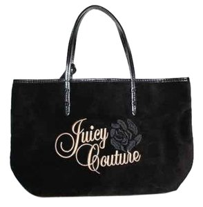Juicy Couture Velve Leather Logo Tote in black