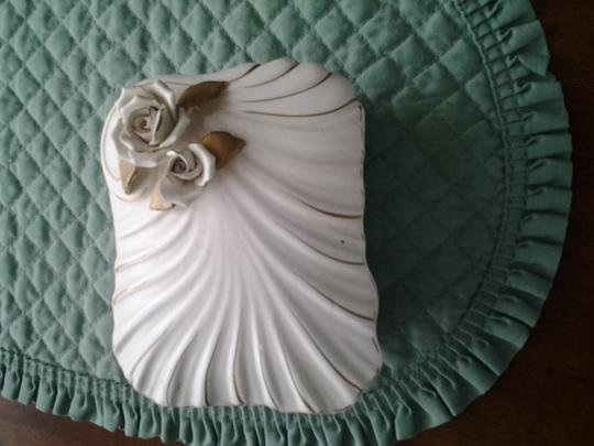 Vintage White with 22k Gold Trim Set Decorative Objects