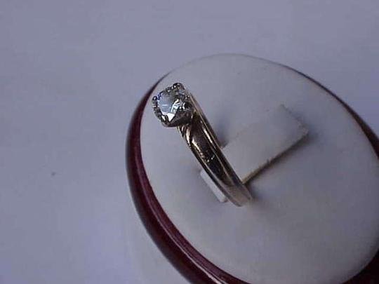 vintage 10kt yellow gold .50 ct solitaire old European cut diamond