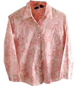 Gap Cotton Button Down Shirt paisley