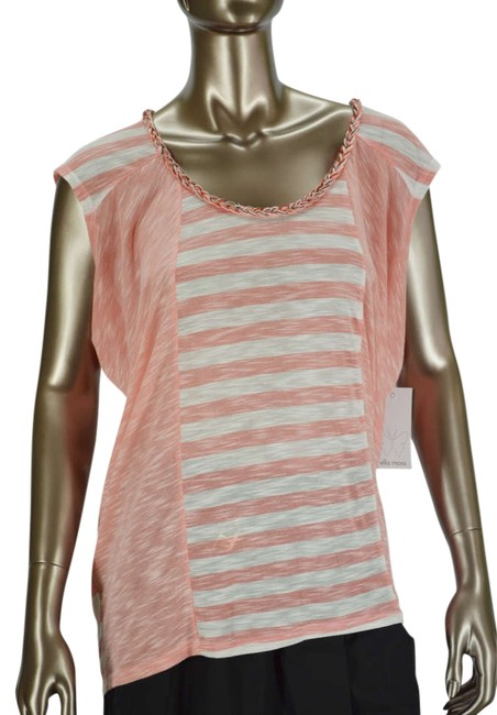 Preload https://item3.tradesy.com/images/ella-moss-anthropologie-margherita-melon-striped-sleeve-tee-shirt-size-8-m-331102-0-0.jpg?width=400&height=650