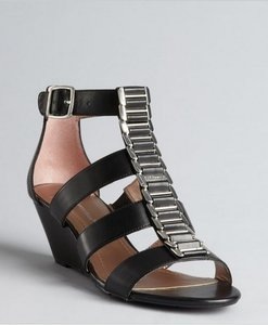 BCBGeneration Gladiator Wedge Sandal Black Wedges