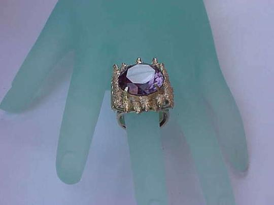 Other Deco 14k Yellow Gold Nugget Ring: Huge Alexandrite ,Very Heavy 13.7gr