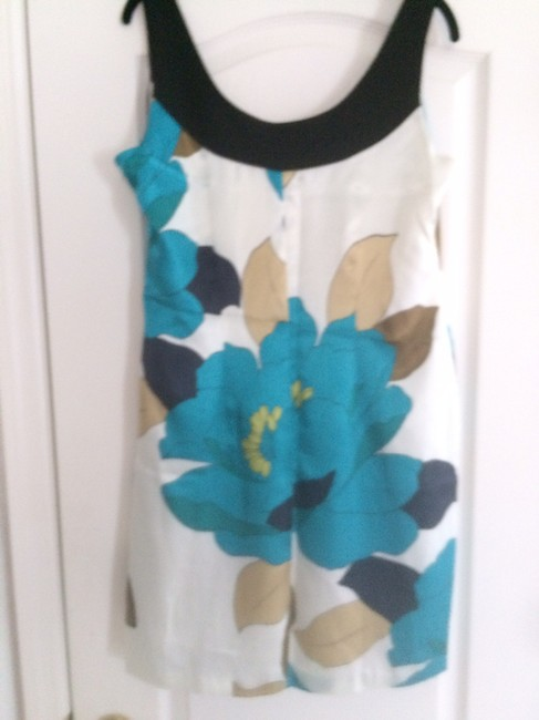 Signature by Robbie Bee short dress Cream ,gold ,teal ,brown and black on Tradesy