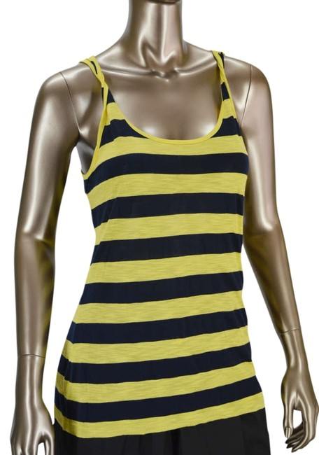 Preload https://img-static.tradesy.com/item/331158/splendid-yellowblack-anthropologie-slub-shadow-navy-stripe-sleeveless-tank-topcami-size-8-m-0-0-650-650.jpg
