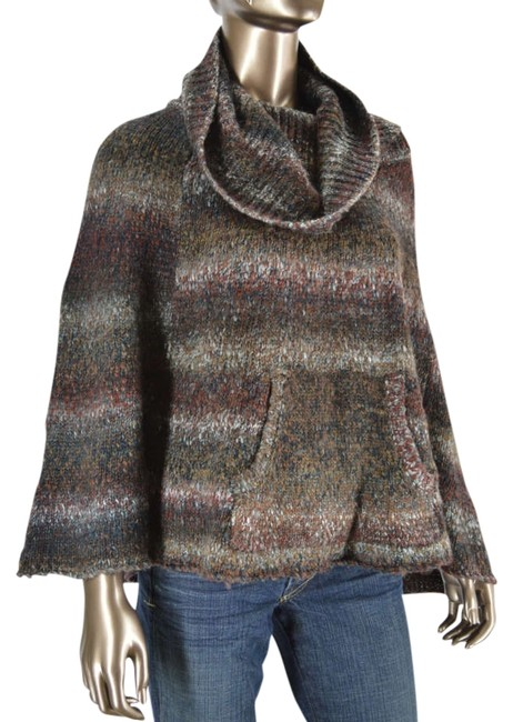 Preload https://item5.tradesy.com/images/splendid-brown-wool-blend-marled-cowl-neck-poncho-ml-sweater-331194-0-0.jpg?width=400&height=650
