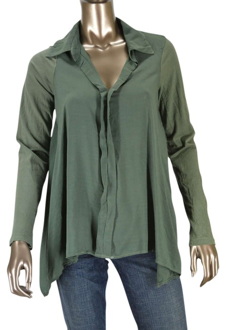 Preload https://item4.tradesy.com/images/splendid-olive-anthropologie-shirting-collar-button-down-top-size-8-m-331208-0-0.jpg?width=400&height=650