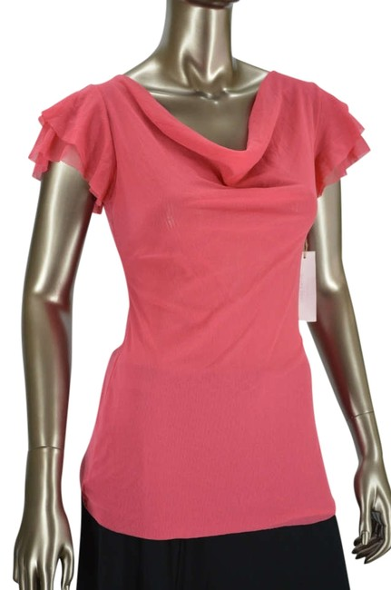 Preload https://item4.tradesy.com/images/sweet-pea-by-stacy-frati-coral-anthropologie-short-sleeve-blouse-size-8-m-331218-0-0.jpg?width=400&height=650