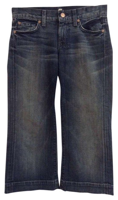 7 For All Mankind Capri/Cropped Denim-Dark Rinse