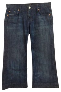 7 For All Mankind Dojo Cropped Denim Dark Wash Capri/Cropped Denim-Dark Rinse