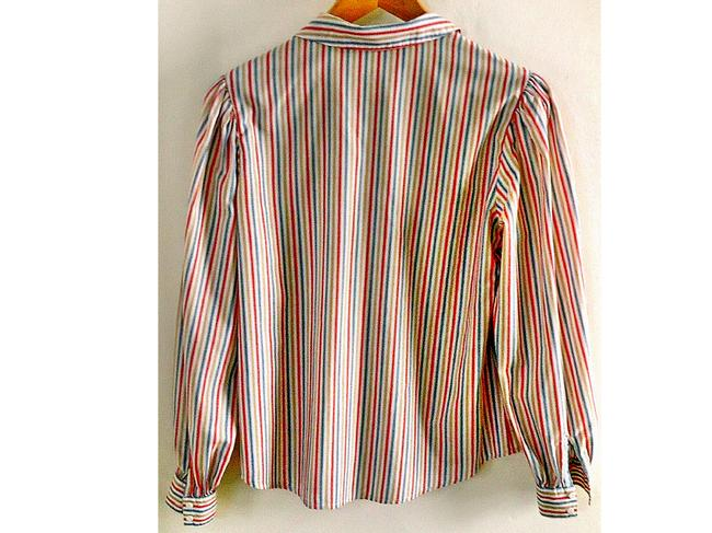 ponter Peter Pan Collar Button Down Shirt striped