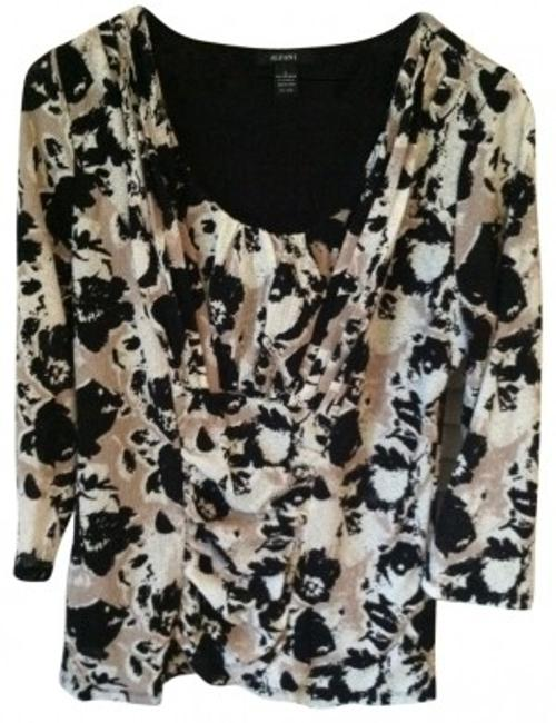 Preload https://item4.tradesy.com/images/alfani-print-three-quarter-sleeve-fitted-night-out-top-size-12-l-33128-0-0.jpg?width=400&height=650