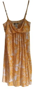 Diane von Furstenberg short dress Yellow, White Wrap Yellow Detail on Tradesy