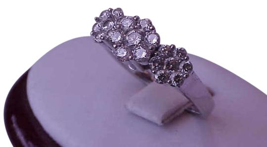 Vintage 14k white gold ring with 1.20 cttw diamonds