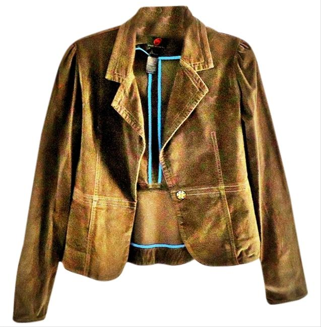 True Meaning Faux Suede Fitted khaki Jacket