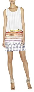 Nicole Miller Silk Mini Embroidered Embellished Beaded Mini Skirt