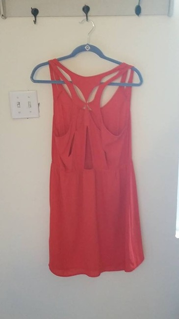 Silence + Noise short dress Coral Cut-out Summer on Tradesy