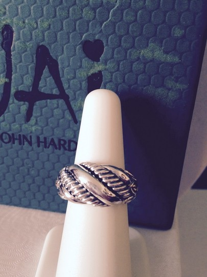 John Hardy JAI Sterling Silver/14kt Sukhothai Domed Ring, Size 6