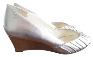 Etienne Aigner Light Silver Wedges