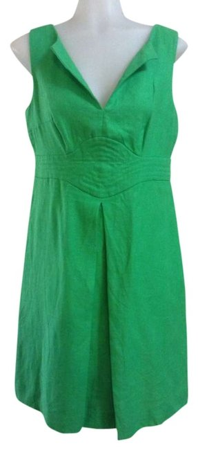 Preload https://item1.tradesy.com/images/banana-republic-true-green-linen-knee-length-workoffice-dress-size-6-s-331390-0-0.jpg?width=400&height=650