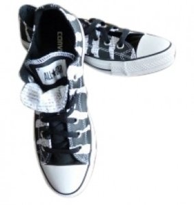 Converse Black and White print Athletic