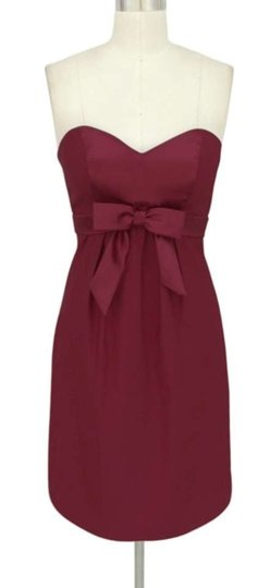 Preload https://img-static.tradesy.com/item/331423/burgundy-dark-red-satin-polyester-sweetheart-bow-formal-sizemed-feminine-bridesmaidmob-dress-size-8-0-0-540-540.jpg
