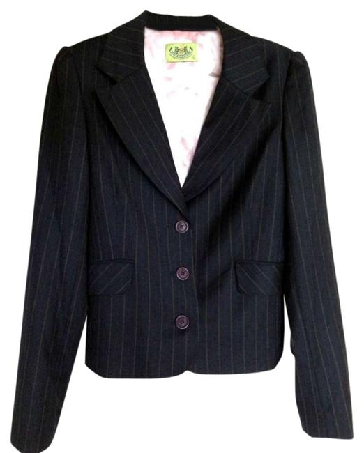 Preload https://item4.tradesy.com/images/juicy-couture-navy-pinstripe-blazer-size-12-l-331668-0-0.jpg?width=400&height=650